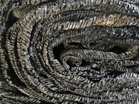 Black shading net texture Banco de Imagens