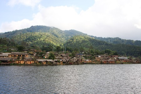 Ban Rak Thai, a Chinese settlement in Mae Hong Son at Thailand