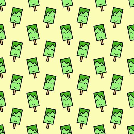 cute ice cream seamless pattern illustration background Stockfoto