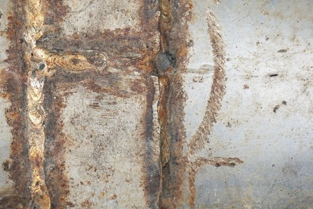 close up old rusty wall texture