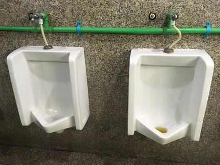 urinals in toilet
