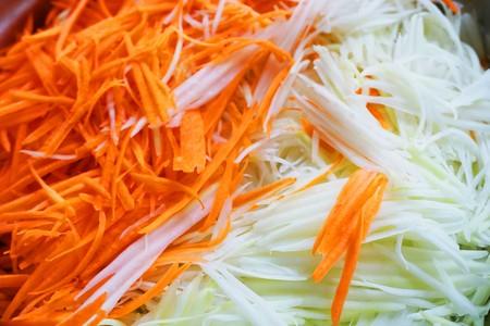 Papaya and carrot slice