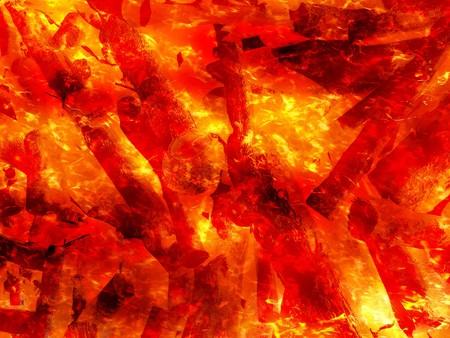 Art fire burning wood background Stock Photo