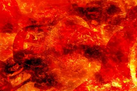 Art hot lava fire abstract pattern illustration background Фото со стока