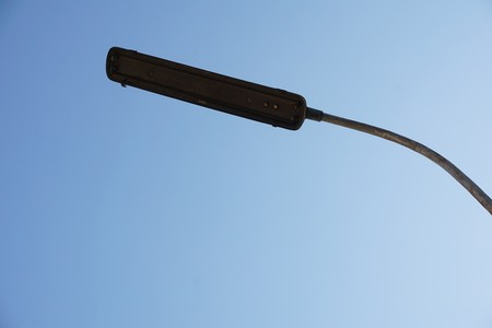 Old electric street lamp Stock Photo