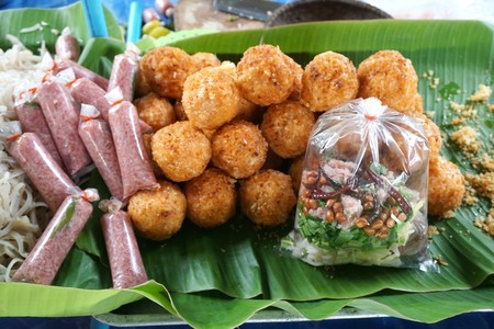 sour pork and crispy rice Stock Photo