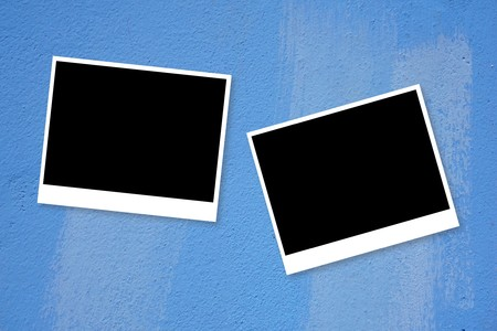 photo card on blue background Imagens