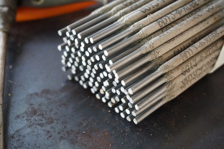 Close up Welding electrodes wire
