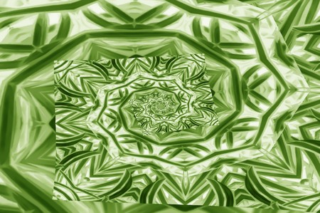 art green color spiral abstract pattern illustration background Stock Photo