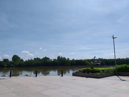 riverside near bangprakong river in chachoengsao thailand