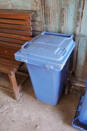 blue bin in country Thailand