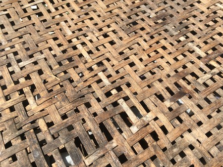 old bamboo basket texture Stock Photo