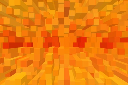 art orange color block abstract pattern illustration background