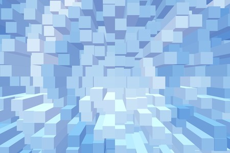 blue color block abstract pattern illustration background