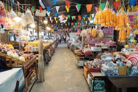 10 December 2018 : retro market in Talad Khlong Suan at Chachoengsao , Thailand