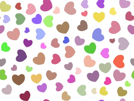 art heart color pattern illustration background