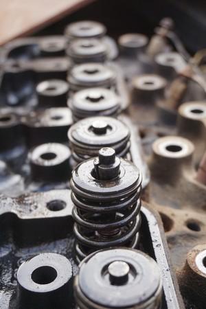 Close up machine car in industry site