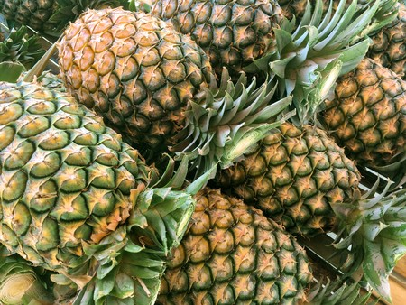 fresh pineapple in market