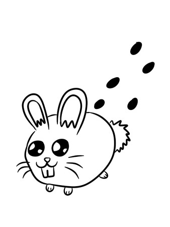 art cute rabbit cartoon on white background