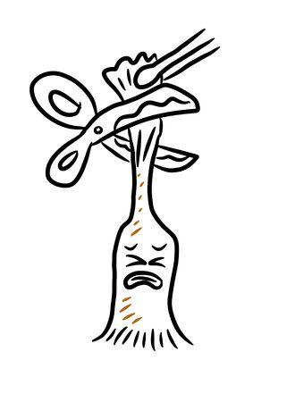 circumcision cartoon on white background Banco de Imagens