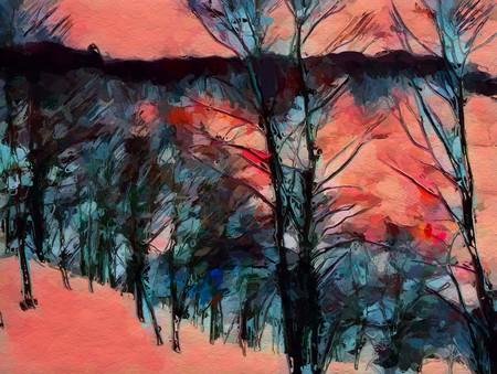 art color forest pattern background Banco de Imagens