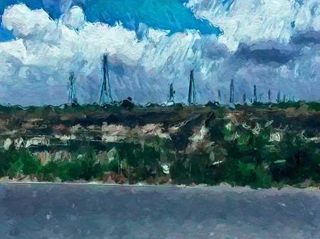 art color landscape pattern background