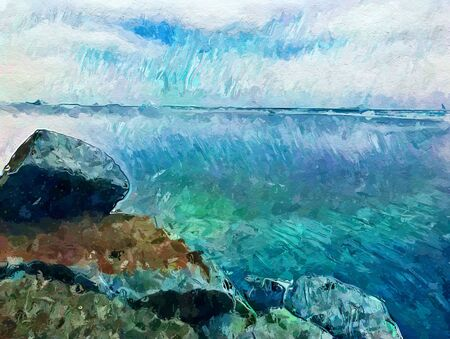 art beautiful color sea background
