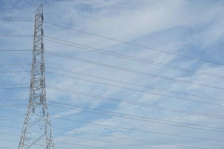 electric pylon in country Thailand Imagens