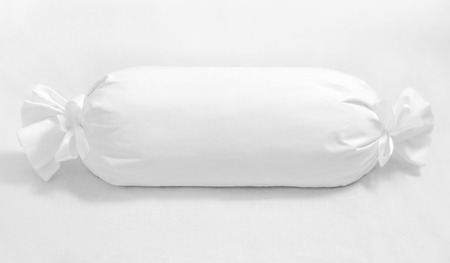 Whiite roll cylinder pillow isolated Stok Fotoğraf