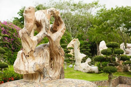 Million Years Stone Park. Pattaya, Thailand. Unusual stone in a public park