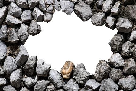 raum weiss: Steinmauer mit wei�en Raum in der Mitte f�r Text