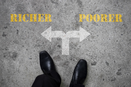 poorer: Black shoes has decision to make at the cross road - richer or poorer