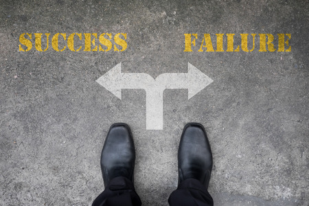 Black shoes has decision to make at the cross road - success or failure