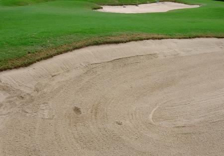 bunker: Sand bunker in golf course