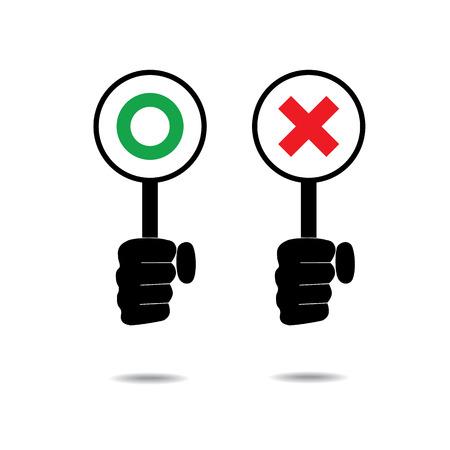 incorrect: Japanese style correct and incorrect symbols