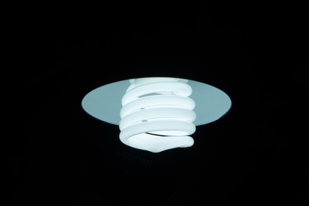 compact: Lightening compact fluorescent in the dark