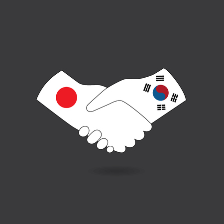 korea: World peace icon, South Korea handshake with Japan