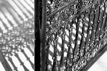 alloy: Alloy gate in black and white