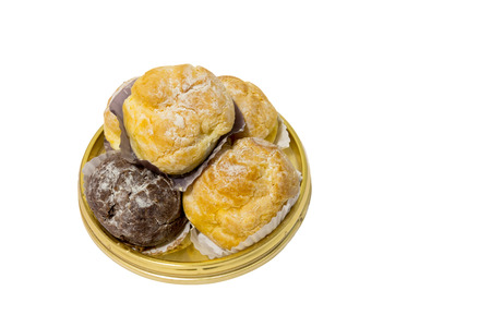 choux: Isolated five pieces of choux cream