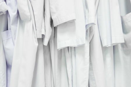 changing room: gown closet in factory changing room Stock Photo