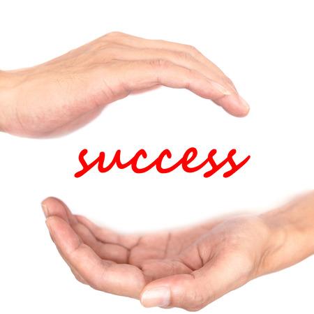 creative force: Hands concept for success. Meditation makes wisdom. wisdom is power.