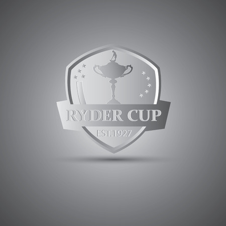 Metallic Ryder cup golf tournament icon 向量圖像