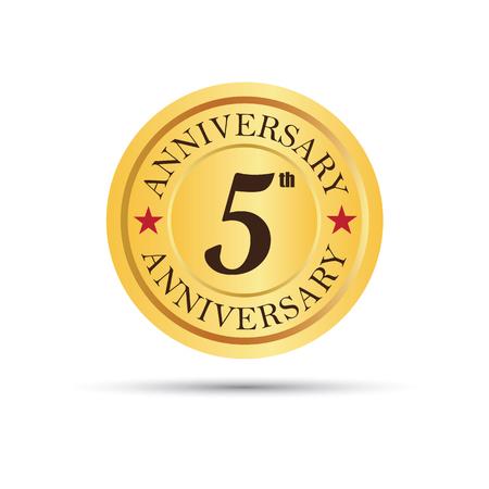 Golden badge 5 years anniversary