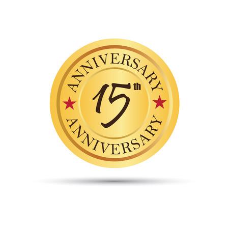 15 years: Golden badge 15 years anniversary