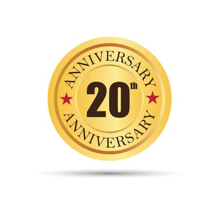 Golden badge 20 years anniversary