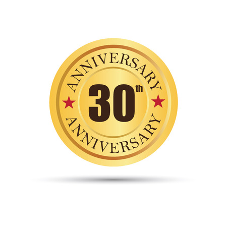 30 years: Golden badge 30 years anniversary Illustration
