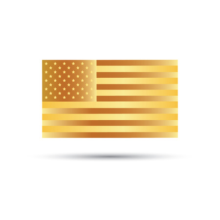 american history: Gold flag of The United States of America