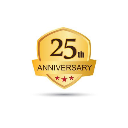 25: Golden badge 25 years anniversary