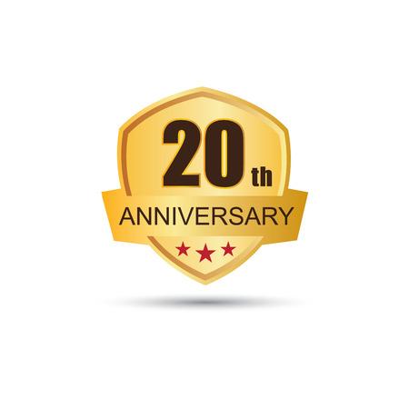 20: Golden badge 20 years anniversary