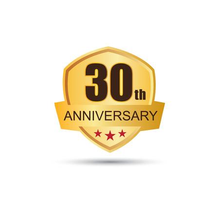 Golden badge 30 years anniversary